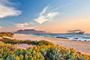 AIDAmira in Südafrika. Foto: AIDA Cruises